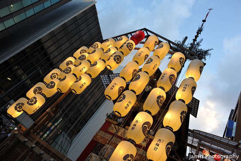 Beneath the Lanterns.<br /> At the 2012 Gion Matsuri in Kyoto.