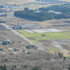 Looking at the Fields from Above.<br /> Omi-Imazu, Shga Prefecture.