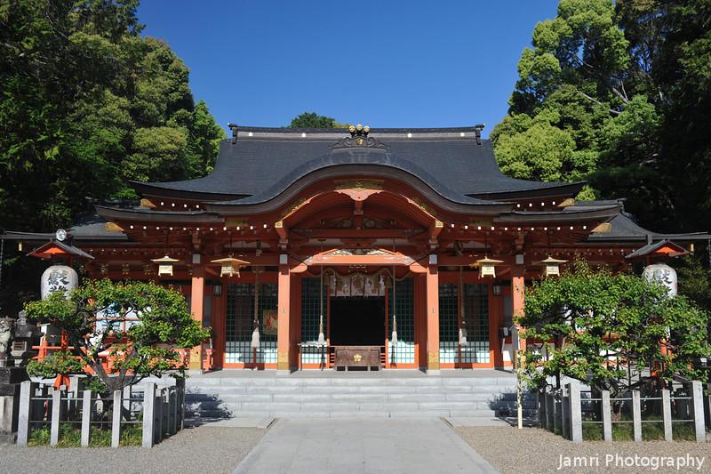 The Main Hall of Nagaoka Tenmangu Shrine