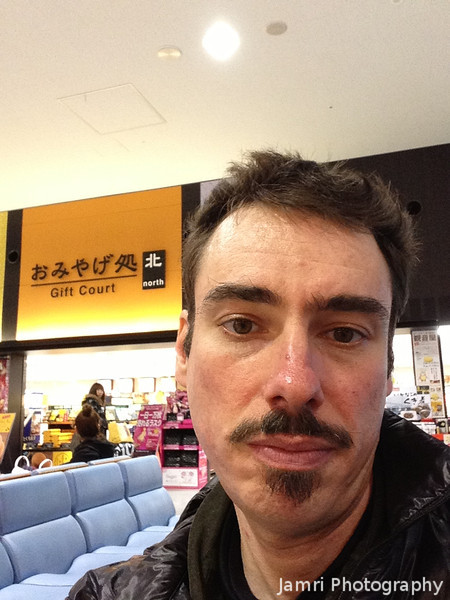 Me at Kansai Airport.<br /> Near by the domestic departure gates in Terminal 1. We stopped here for lunch because it's the cheapest part of the Airport to by a meal before we headed to Terminal 2 catch our flight to Kagoshima.