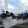 Letting off some steam.