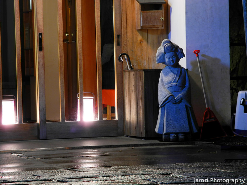 Geisha Gnome.<br /> Found during the 2012 Higashiyama Hanatouro.