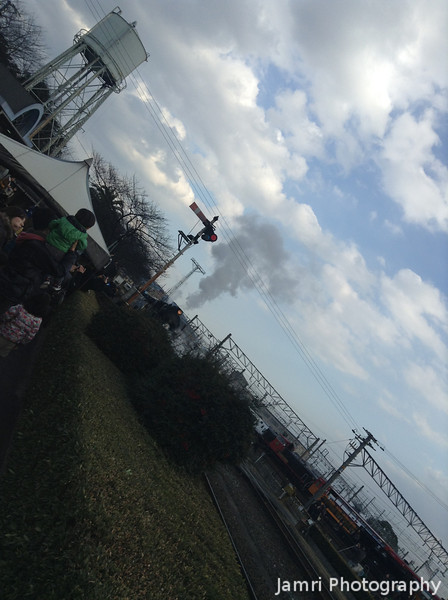 Steam Train in the Distance.