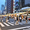 Crossing Kawaramachi-dori.<br /> Kyoto, Japan.