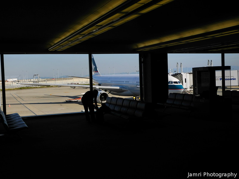 Looking Out from the Departure Lounge