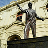 John Curtin statue.<br /> A famous former Fremantle member of parliament who was the Prime Minister of Australia during WWII. I graduated from Curtin University which was named after him.