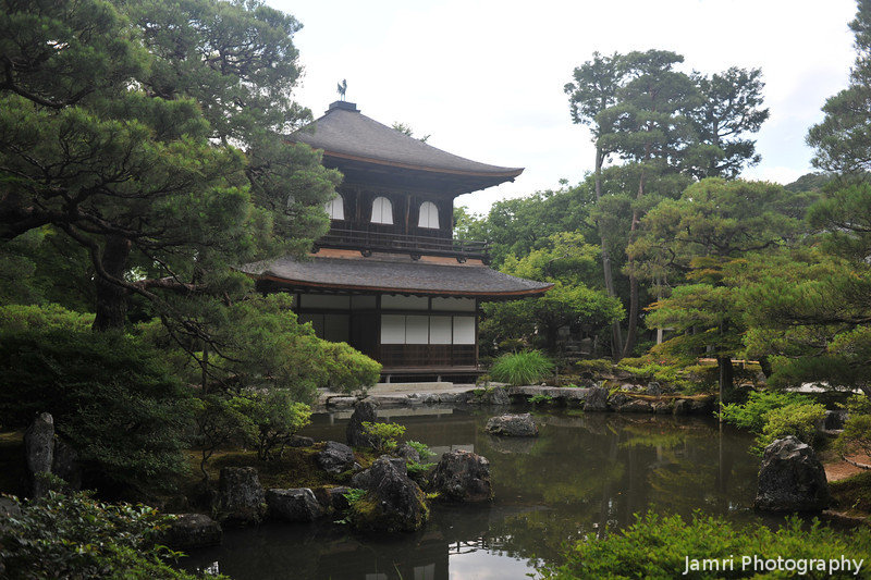 The Silver Pavilion and a Pond.<br /> Kyoto, Japan.