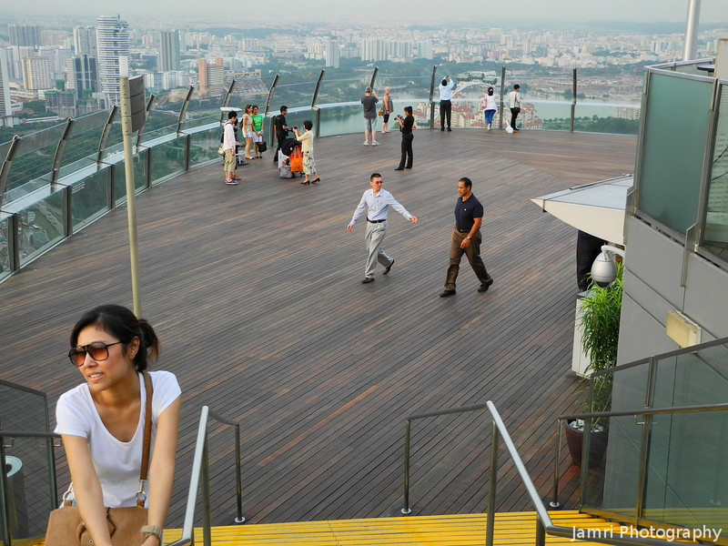 A View of the Observation Deck.<br /> Of the Marina Bay Sands Hotel.
