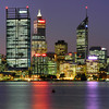 """Perth's Skyscrapers.<br /> The big building near the left side of the photo is the new """"BHP Billiton"""" City Square One building."""