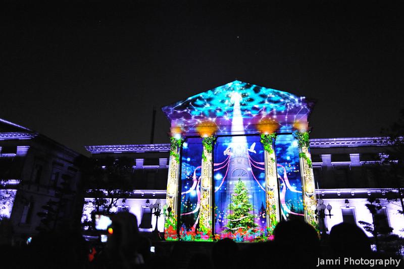 Finale of the Audio Visual presentation.<br /> During the 2012 Hikari Renaissance in Osaka.