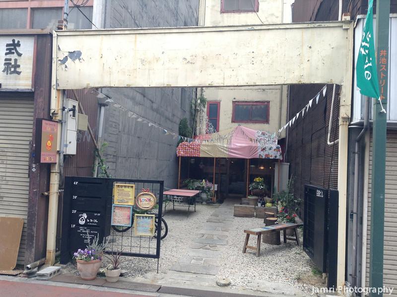 How the Vegan Restaurant looks from the Street.