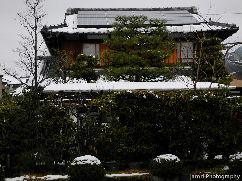 Traditional House and Snow