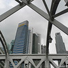 Through the Girders.<br /> Towards the Maybank Building in Singapore.