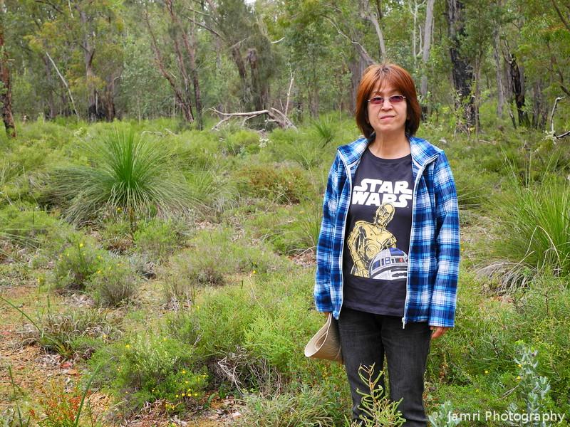 Ritsuko in the Jarrah-Marri Forest
