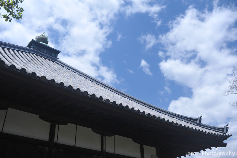 The Roof of a Temple Building.<br /> At Otokuni Temple in Nagaokakyo, Kyoto-fu, Japan.