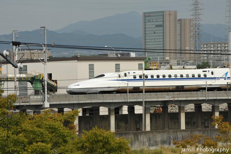 An N700 Series Heading Toward Osaka