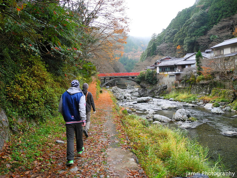Along the Riverside Trail.<br /> We went for a hike out in the countryside near Arashiyama in Kyoto.