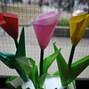 Paper Tulips.<br /> A vision of spring in late autumn.<br /> At the Megumi Kindergarten Annual Art Exhibition.