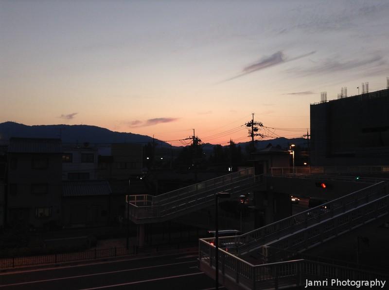 Sky Colour over Nishiyama