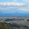 The View Toward Chikubu-jima.<br /> Chikubu-jima is an Island of scenic beauty in Lake Biwa.