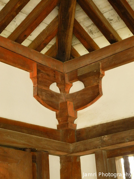 Unusual Architectural Features.<br /> At Houryu-ji, Ikaruga-cho, Ikoma-gun, Nara-ken, Japan.