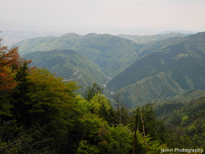 A View Down a River Valley.<br /> From Mount Atago.