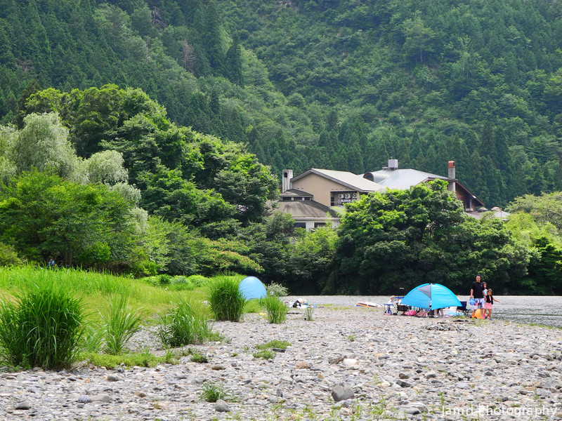 By the River in Miyama.<br /> Taken during our church's summer retreat.