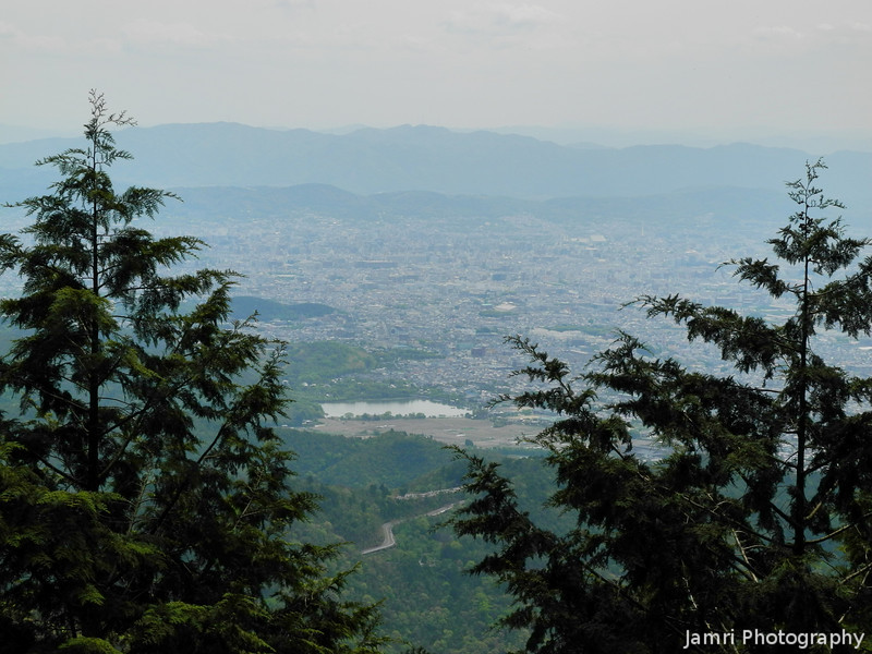 The View of Kyoto city.<br /> From a little over halfway up Mount Atago.