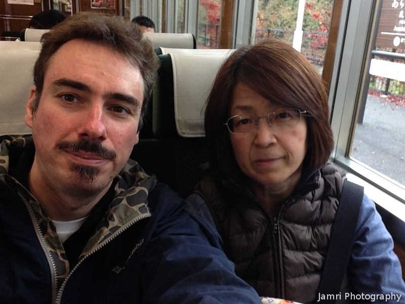 Selfie on a Train