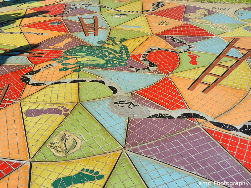 Live Action Snakes and Ladders Game Board.<br /> Mandurah, Western Australia.