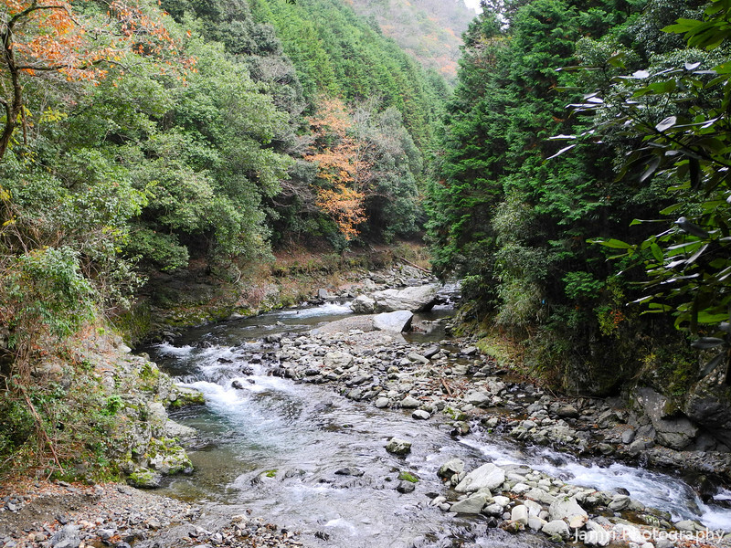 The River Flows.<br /> We followed this river for part of our hike near Arashiyama, Kyoto.