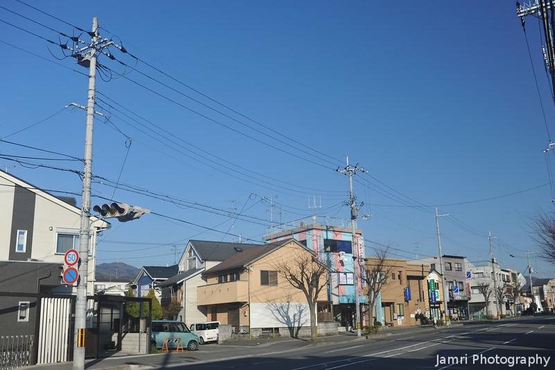 Along a quiet street in Nagaokakyo.