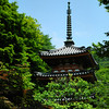 Pagoda in amongst the Greenery.<br /> At Mimuroto-ji, Uji, Kyoto.