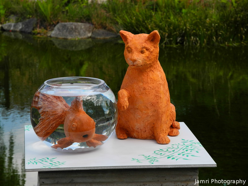 Fish and Cat Artwork