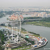 Singapore Flyer.<br /> From the Marina Bay Sands Hotel observation deck.