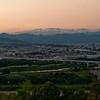 A Wide Shot of Nagaokakyo at Sunset