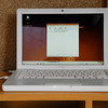 My MacBook running Ubuntu Linux via VMWare Fussion.<br /> When I took this shot it'd just finished converting the sermon voice file from WMA to MP3.