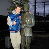"""Jayden with the William Merell Voires statue. <a href=""""http://en.wikipedia.org/wiki/William_Merrell_Vories"""">William Merell Vories</a> was a tent-maker missionary who lived in Omi Hachiman, Shiga Prefecture, Japan."""