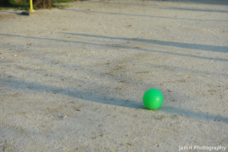 Green Ball in the Playground.
