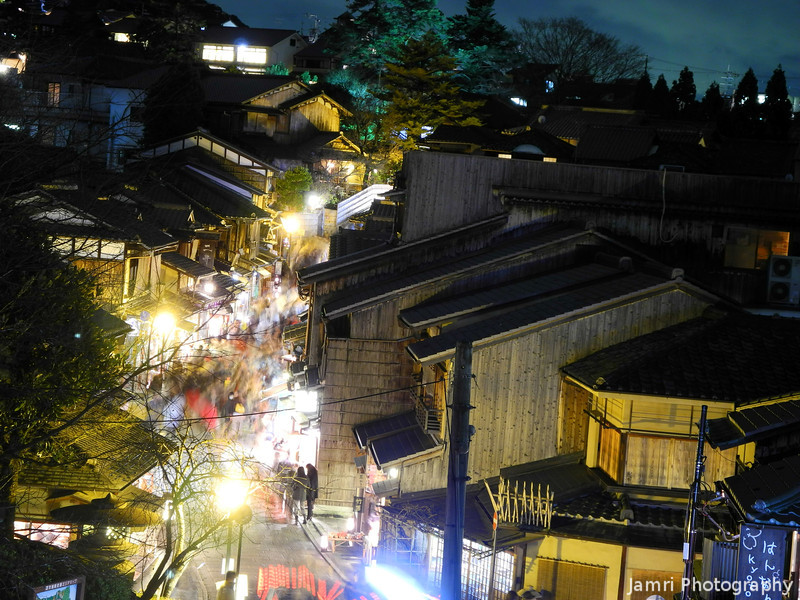 The Flow of People.<br /> During the 2012 Higashiyama Hanatouro in Kyoto.