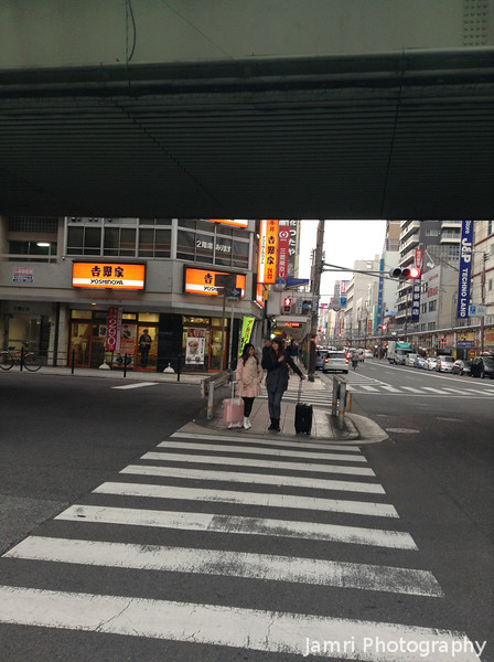 Crossing Over to Den Den Town.<br /> Den Den Town is Osaka's equivalent to Tokyo's Akihabara, it has a similar history: Started off as the cheep area to buy electronic goods, after the rise the big Denki stores (Yodobashi Camera, Bic Camera, K's Denki, etc) it went into hard times, now it's become a bit of centre for Otaku shops. However it's less famous outside of Japan, so there wasn't so many tourist. It's not as in your face and it's way more spread out than Akihabara. The Otaku shops have not totally revived the area like they did for Akihabara so there's a lot of decay in Den Den Town of closed down shops. However there are still a few Gem's to be found.