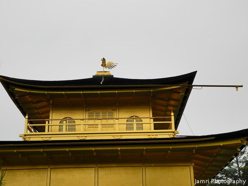 Up close to Kinkaku-ji.