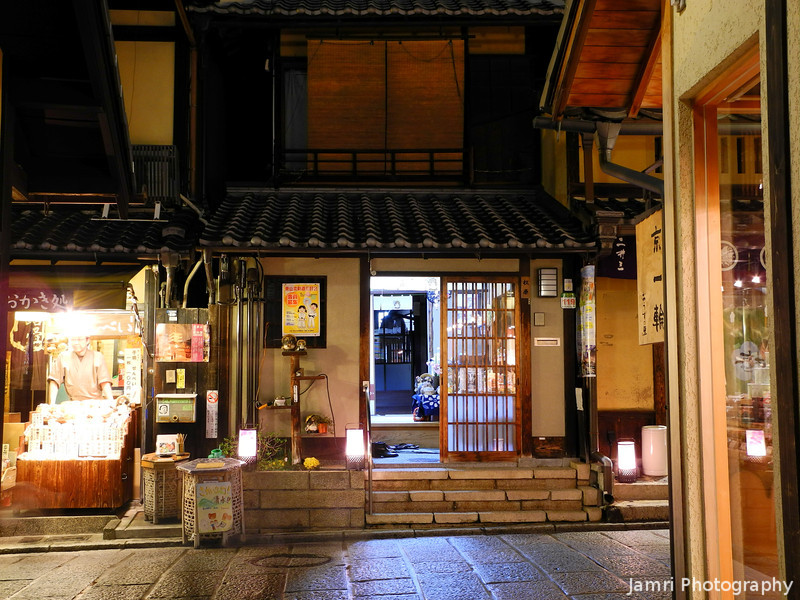 Traditional Shops at Night.