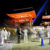 Outside Kiyomizu Temple.<br /> During the 2013 Higashiyama Hanatouro in Kyoto.