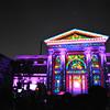 Osaka City Hall goes purple during the Audio Visual presentation.<br /> Part of the 2012 Hikari Renaissance in Osaka.