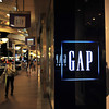 At the GAP.<br /> The GAP seems to be doing well in Japan, even though it's not doing so well in it's home country at the moment.