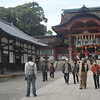The Entrance to Iwashimizu Hachiman-gu.<br /> This shrine on Mount. Otoko is very old, dating back to the 9th century.