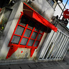 Red Window.<br /> On a cafe along Tetsugaku-no-michi (the path of philosophy).<br /> Typical for Japan it wasn't open at 9:00am in the morning, in Australia some cafes opened at 7:00 or even earlier.
