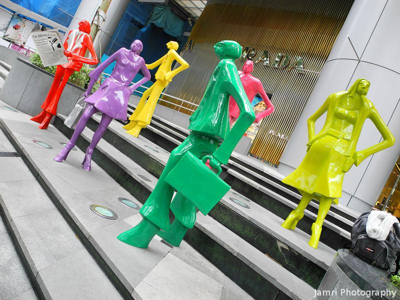 Plastic Sculptures.