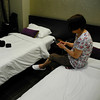 At Our Hotel Room in Singapore.<br /> V-Hotel Lavender.